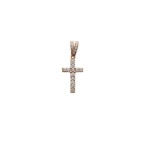 Rose Gold VS Diamond Cross Pendant (14K)