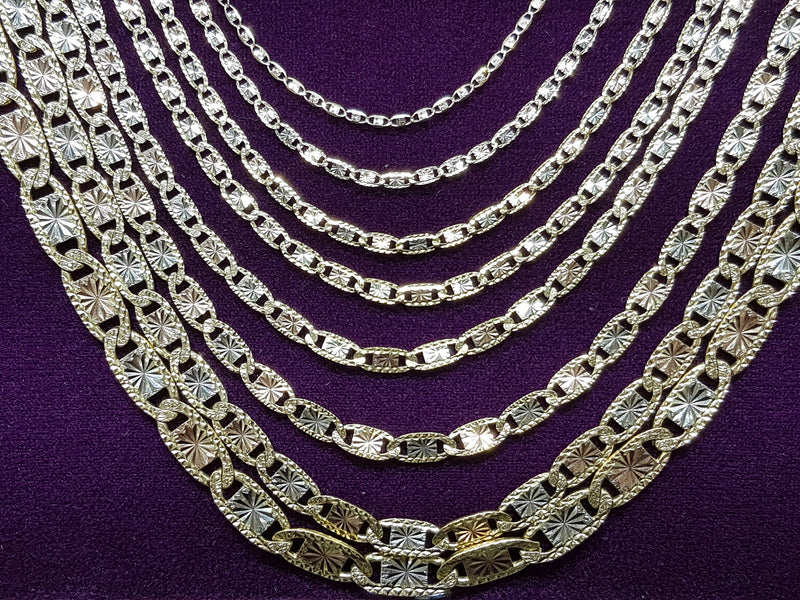 Valentino Chain Tricolor 14K - Popular Jewelry