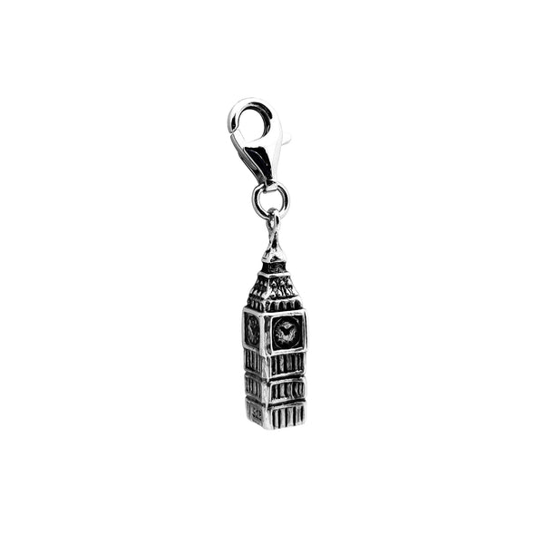 Vintage Big Ben Clock Tower (Silver) Popular Jewelry New York