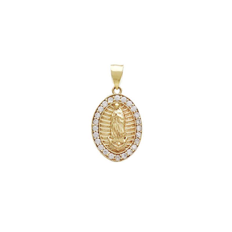 Oval Virgin Mary Pendant (14K)