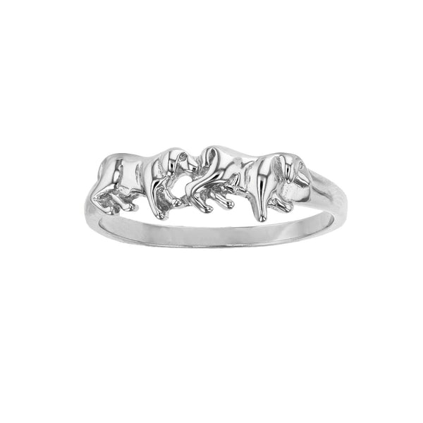 Walking Dogs Ring (Silver) Popular Jewelry New York