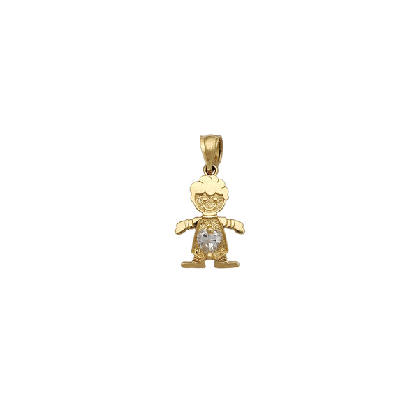 White Stone Boy Pendant (14K) Popular Jewelry New York