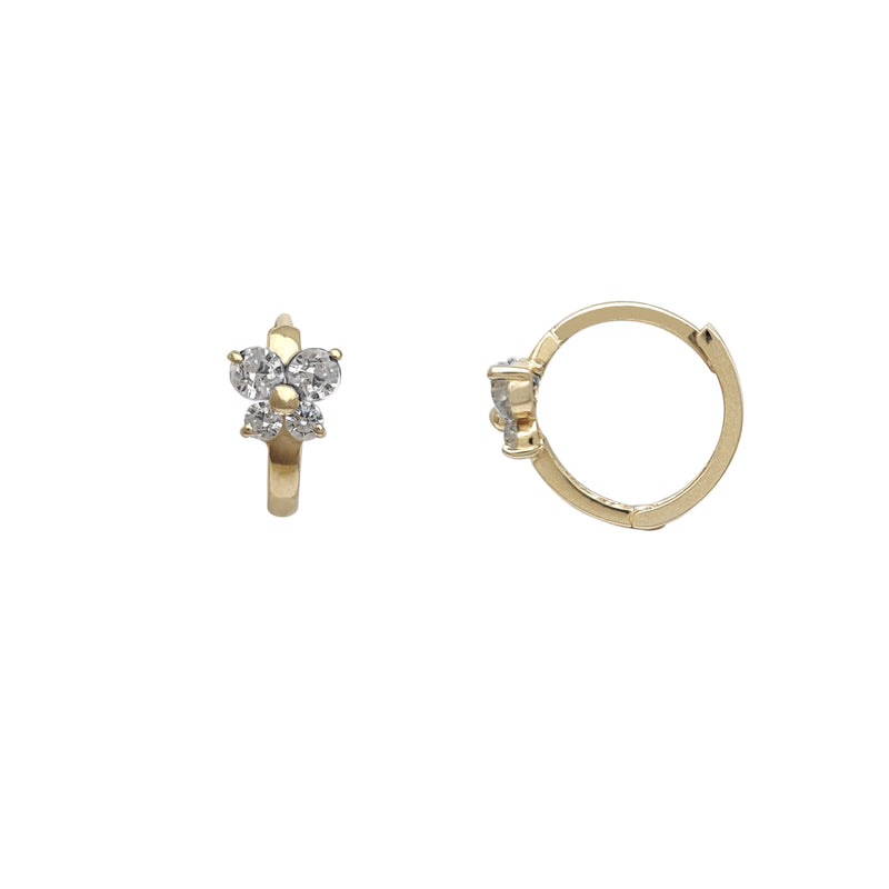 Zirconia Butterfly Huggie Earrings (14K) Popular Jewelry New York