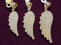 Iced-Out Angel Wing Pendant - Lucky Diamond 恆福 珠寶 金 行 New York City 169 Canal Street 10013 Sieradenwinkel Playboi Charlie Chinatown @luckydiamondny 2124311180