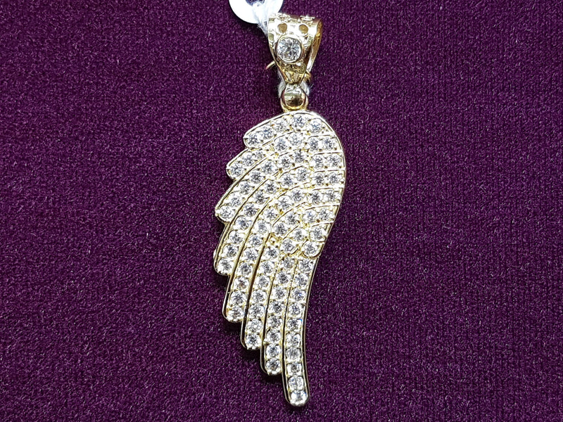 Iced-Out Angel Wing Pendant - Lucky Diamond 恆福珠寶金行 New York City 169 Canal Street 10013 Jewelry store Playboi Charlie Chinatown @luckydiamondny 2124311180