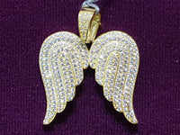 Icy Angel Wings (Yellow) Pendant Silver - Popular Jewelry