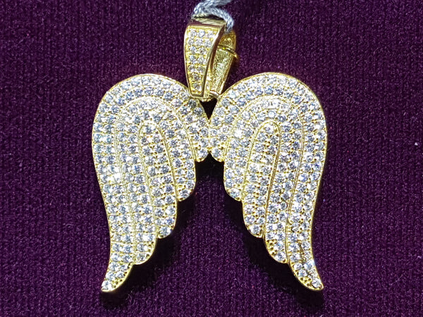 Colgante de Icy Angel Wings (Amarelo) - Prata Popular Jewelry