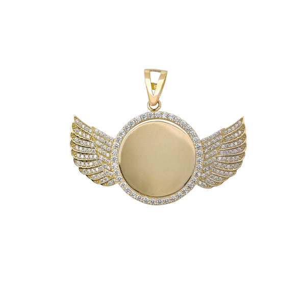 Pendant Winged Medallion (14K) Popular Jewelry ເມືອງ​ນິວ​ຢອກ