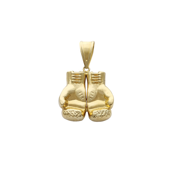 Yellow Gold Boxing Gloves Pendant (14K) Popular Jewelry New York