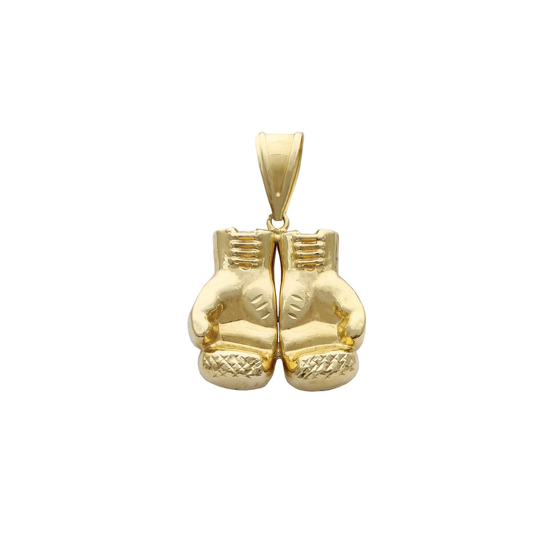 Pendentif gants de boxe en or jaune (14K) Popular Jewelry New York