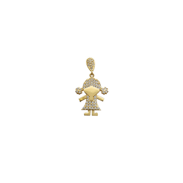 Zirconia Little Girl Pendant (14K)