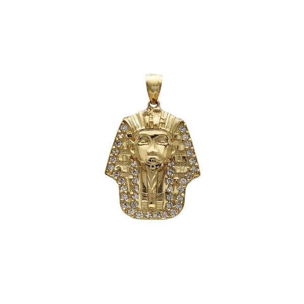 Zirconia Pharaoh Head Pendant (14K) Popular Jewelry New York