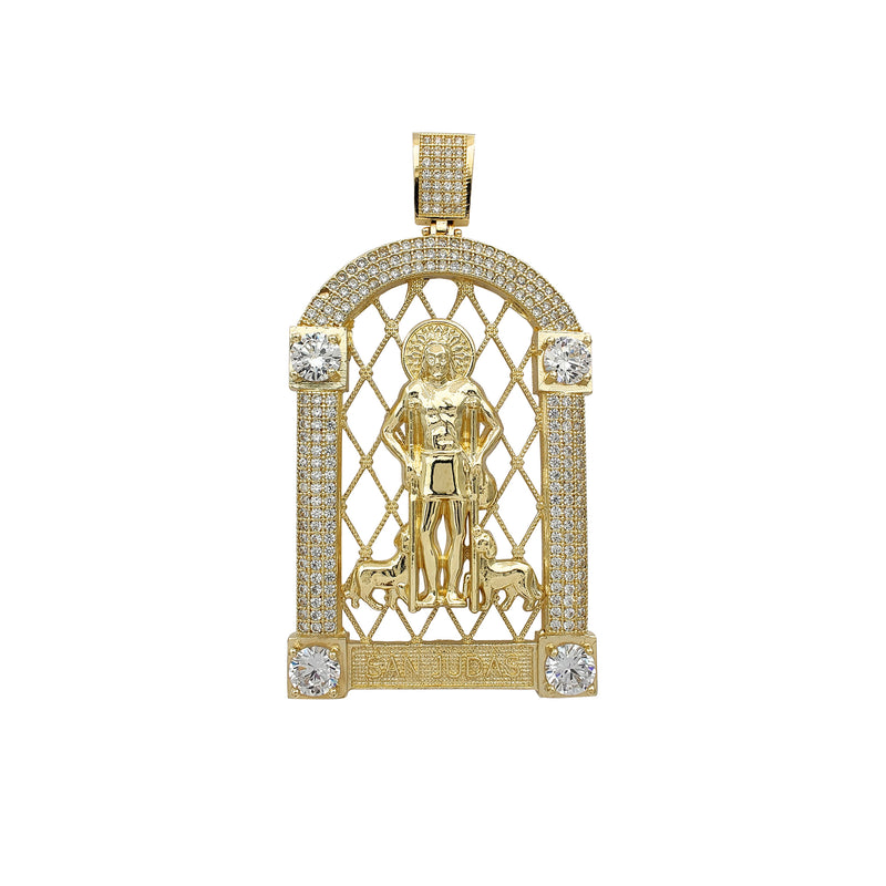 [Spanish] Zirconia Shrine Saint Jude Pendant (14K) Popular Jewelry New York
