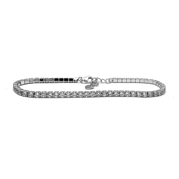 Zirconia Tennis Bracelet (Silver) Popular Jewelry New York