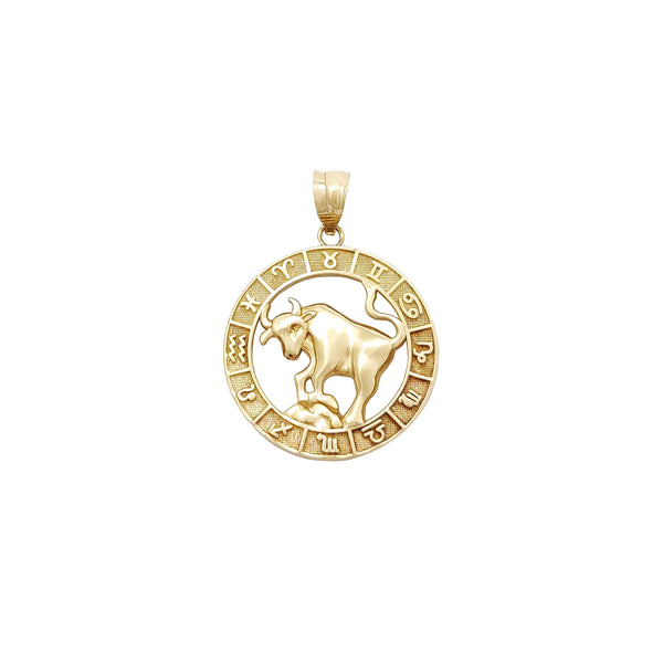 Zodiac Sign Taurus Pendant (14K) Popular Jewelry New York