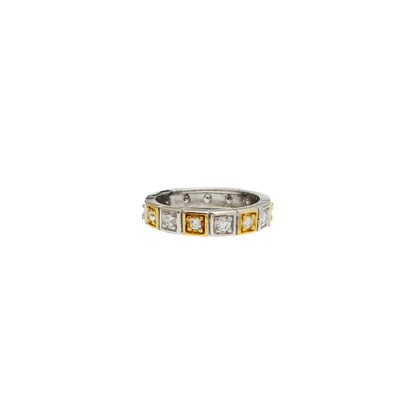 Cubic Zirconia Eternity Ring (14K)