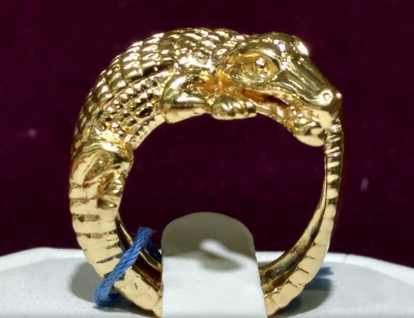Alligator Men's Ring 14K / 18K - Lucky Diamond 恆福 珠寶 金 行 New York City 169 Canal Street 10013 زيورن جو دڪان Playboi Charlie Chinatown @ luckydiamondny 2124311180