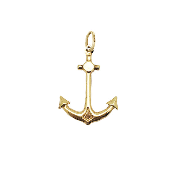 Jòn Anchor Pendant Gold (14K)