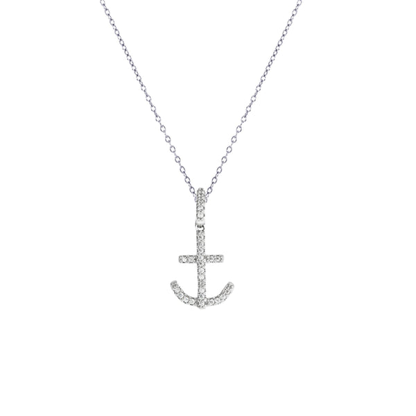 Anchor Necklace (Silver)