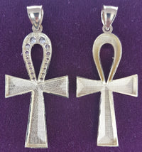 Diamond-Cut Ankh Hengiskraut 10K (aftan) - Popular Jewelry