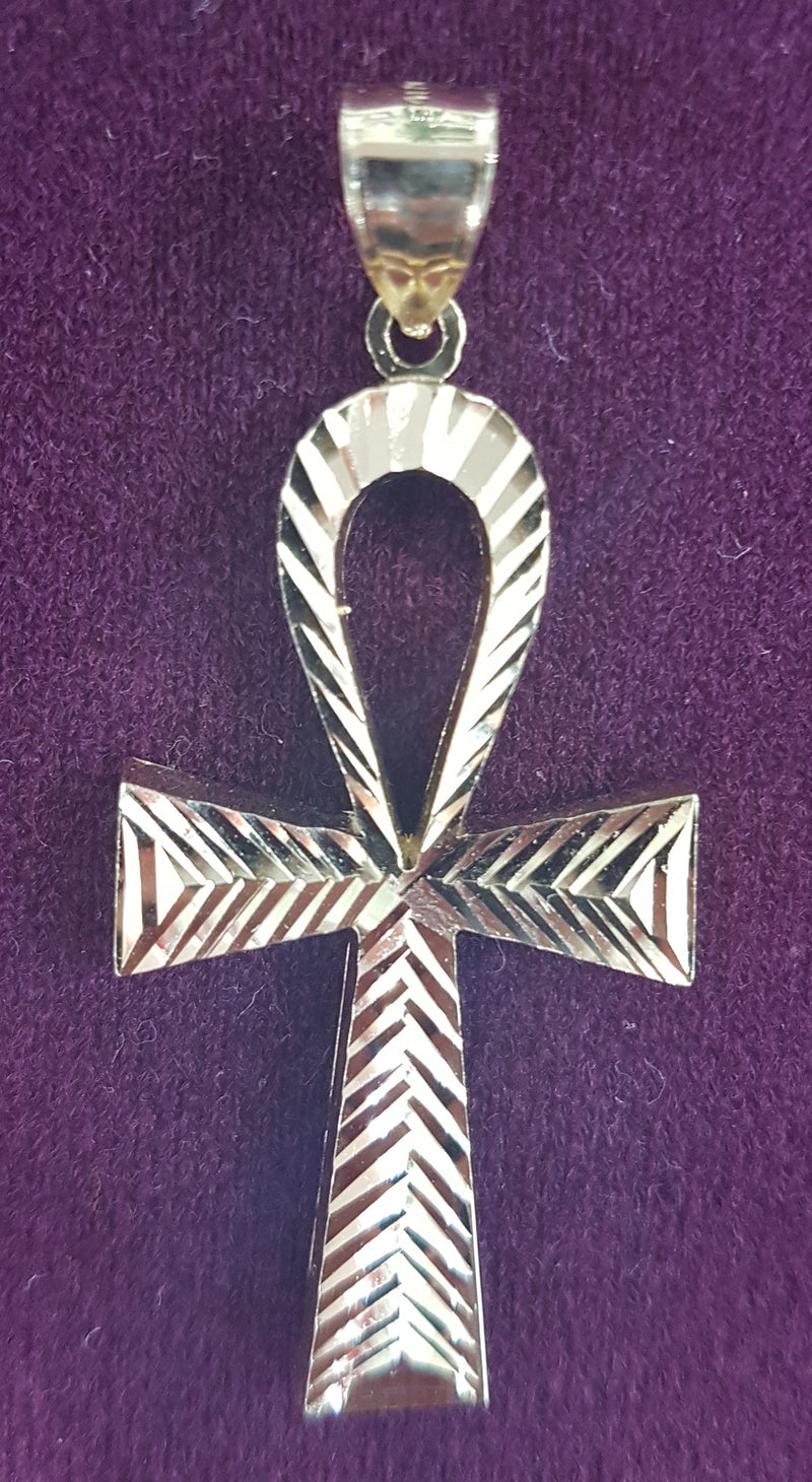 Diamond-Cut Ankh Hengiskraut 10K (Plain) - Popular Jewelry