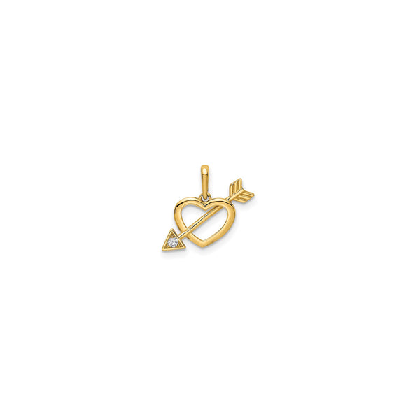 Heart With Arrow Pendant (14K)