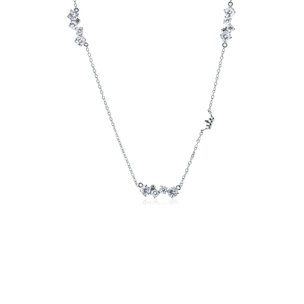 Bar Station Necklace (Silver)