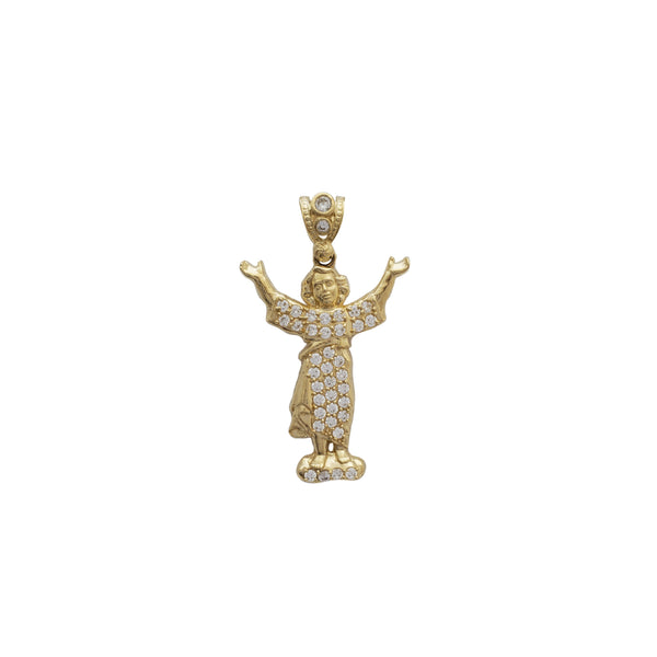 Iced Out Baby Jesus Pendant (14K)
