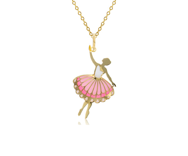 Yellow Gold Ballerina Fancy Necklace (14K)