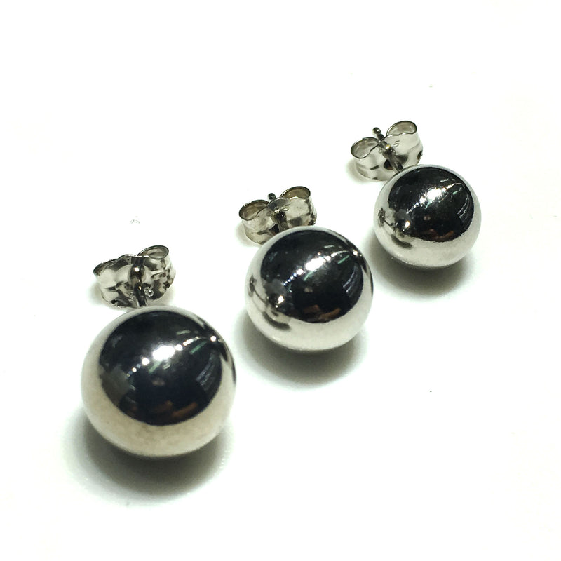 Ball Stud Earring Silver (High-Polished Finish)