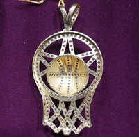 Iced Out Basketball Pendant 10K - Popular Jewelry