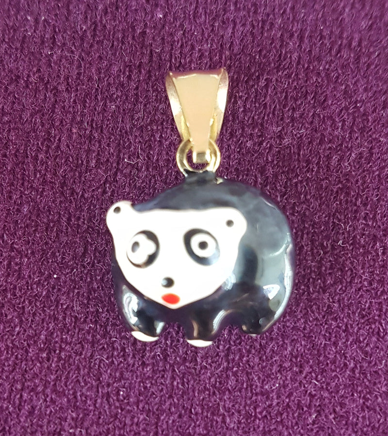 Ursine (Panda & Grizzly Bear) Pendant 14K - Lucky Diamond 恆福珠寶金行 New York City 169 Canal Street 10013 Jewelry store Playboi Charlie Chinatown @luckydiamondny 2124311180
