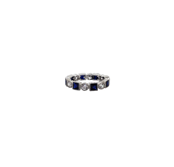 Blue Eternity Ring (Silver)