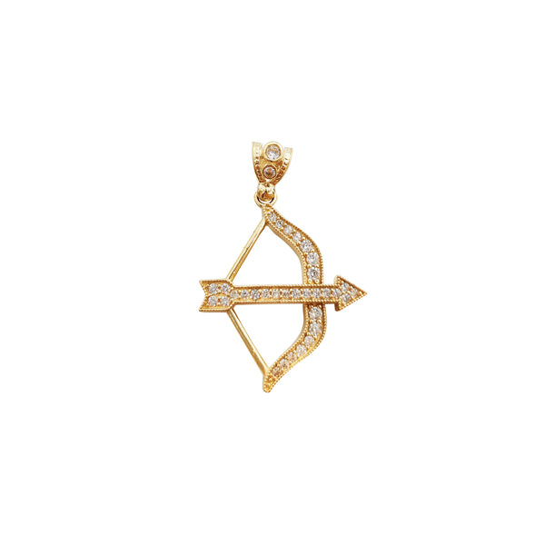 Box and Arrow Pendant (14K)
