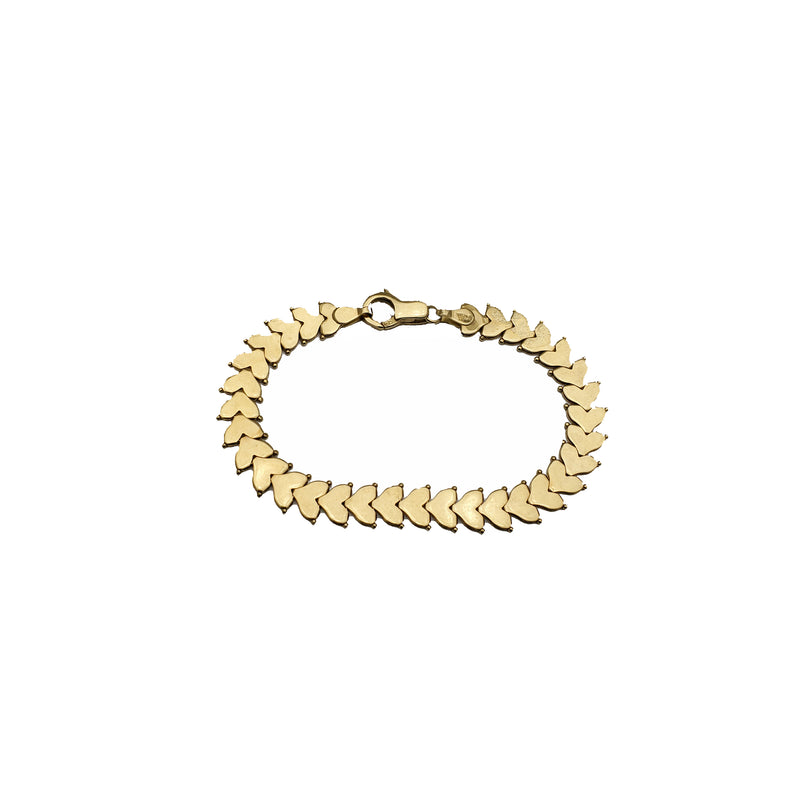 Yellow Gold Heart Fancy Bracelet (14K)