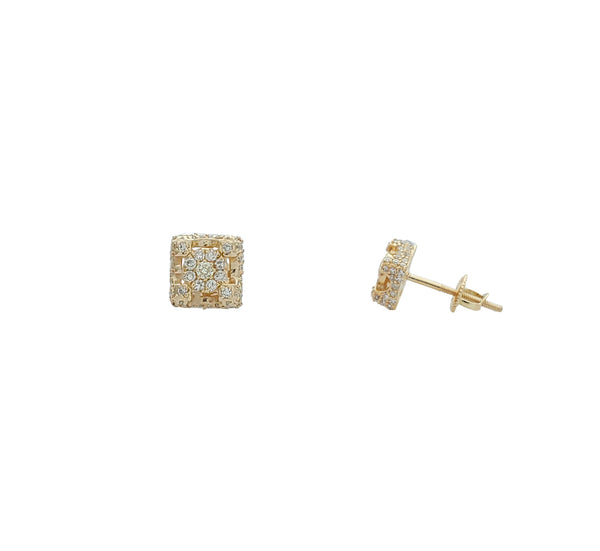 Diamond Castle Stud Earrings (14K)