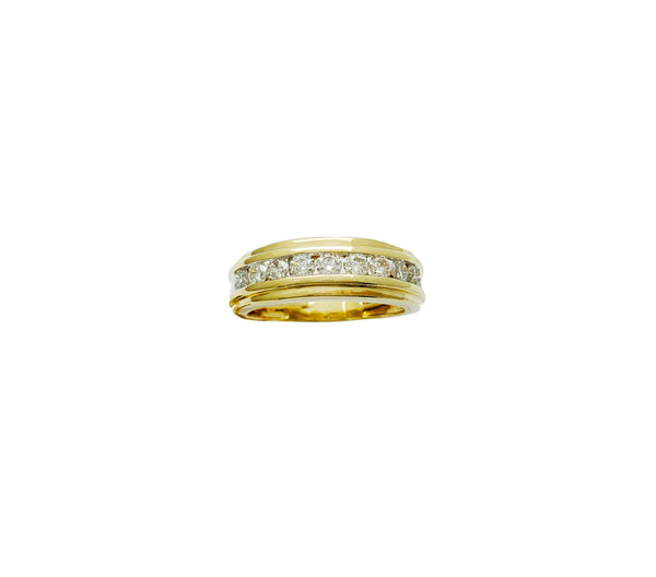 Channel Setting Diamond Wedding Ring (10K)