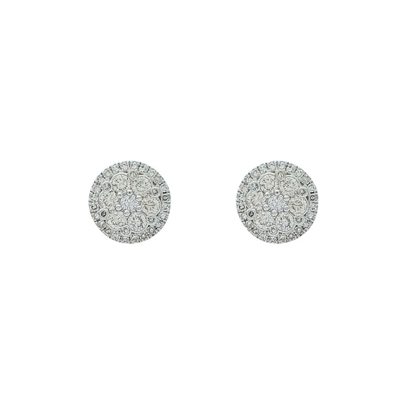 Diamond Cluster Stud Earrings (14K)