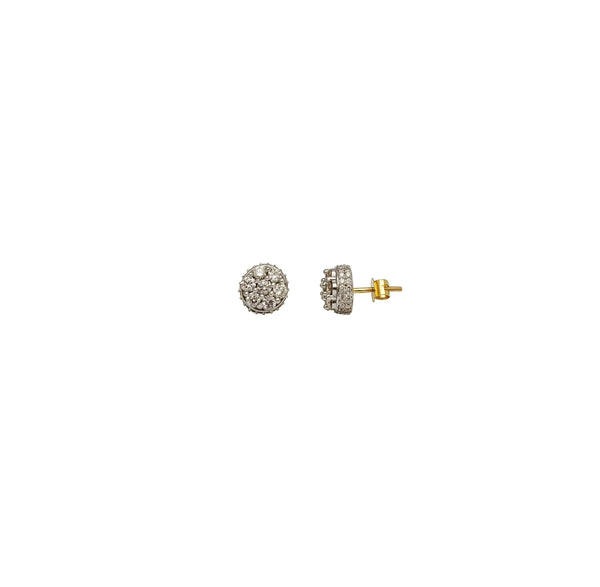 Cluster Diamond Earring (14K)