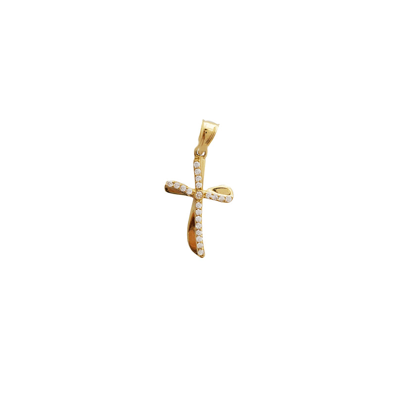 Fancy Cross CZ Pendant (14K)