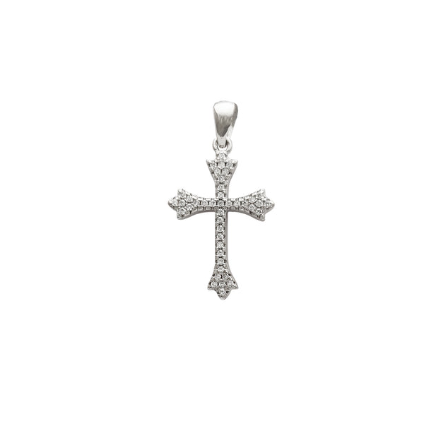 Iced-Out Cross Pendant (Silver)