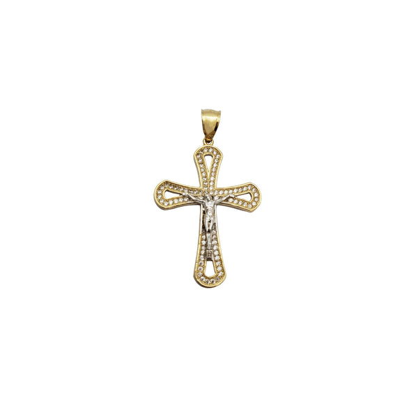 Two-Tone Crucifix Pendant (14K)