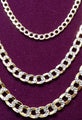 Two-Tone Lightweight Flat-Link Cuban Necklace 10K