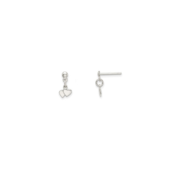 Heart Dangling Earrings (Silver)
