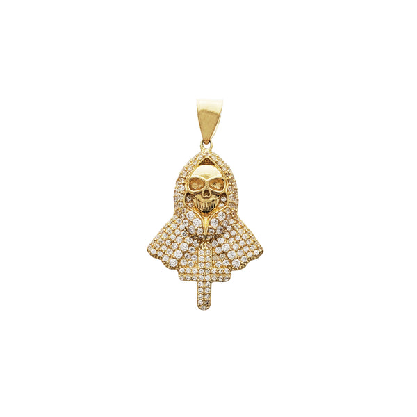 Iced-out Hooded Death Pendant (14K)