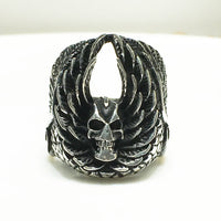 Antique-Finish Demon Ring Ring (Silver) - Popular Jewelry