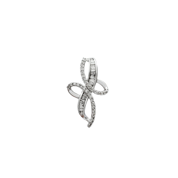White Gold Diamond Pendant (10K)