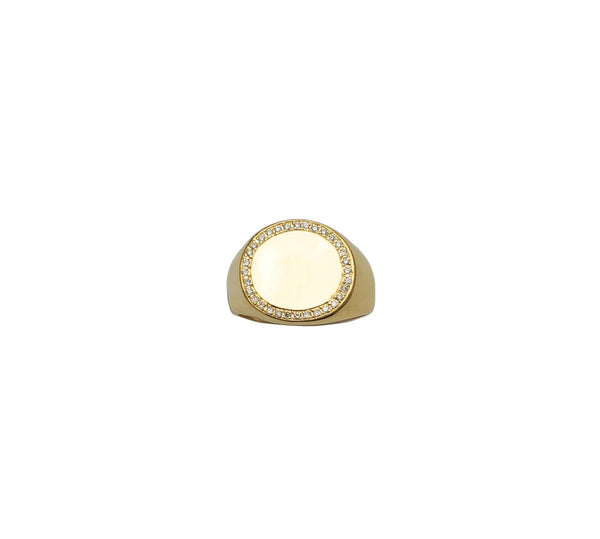 Diamond Signet Ring (14K)