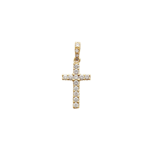 VS Diamond Cross Pendant (14K)