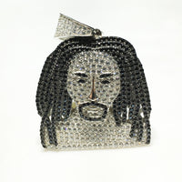 Iced-Out Man Dreads Colgante (Silver) - Popular Jewelry